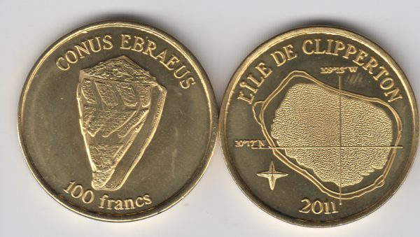 CLIPPERTON 100 Francs 2011, unusual coinage