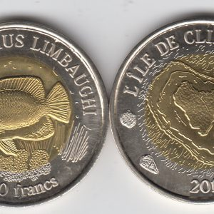 CLIPPERTON 500 Francs 2011, unusual coinage