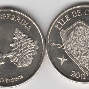 CLIPPERTON 50 Francs 2011, unusual coinage