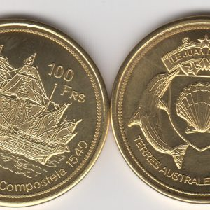 JUAN DE NOVA 100 Francs 2013, Albatros, unusual coinage