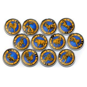 JAMRU & KASHMUR 2x Sets 12pcs, Lunar Zodiac + Western Zodiac