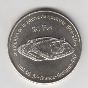 KERGUELEN 50 Francs 2014 Tank, unusual coinage