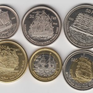 TROMELIN Set 6pcs 2013, ships, unusual coinage