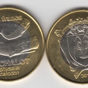 AMSTERDAM & SAINT PAUL 500 Francs 2011, unusual coinage
