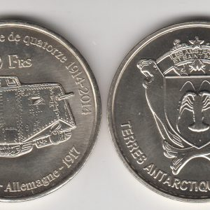 AMSTERDAM & SAINT PAUL 50 Francs 2014 Tank, unusual coinage