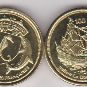 BASSAS DA INDIA 100 Francs 2012, unusual coinage