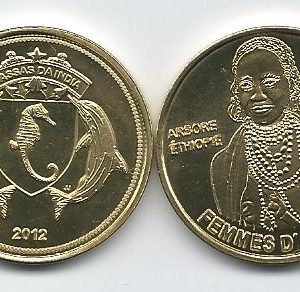 BASSAS DA INDIA 100 Francs 2012 Ethiopian woman, unusual coinage
