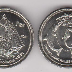 BASSAS DA INDIA 50 Francs 2012, unusual coinage