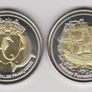 BASSAS DA INDIA 500 Francs 2011, unusual coinage