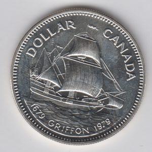 CANADA $1 1979 silver, KM124
