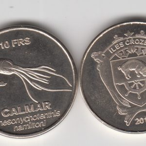 CROZET 10 Francs 2013, Squid, unusual coinage