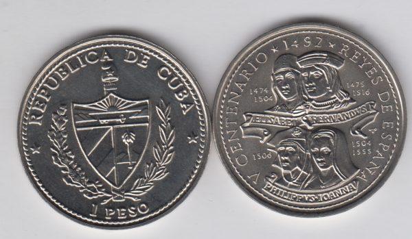 CUBA 1 Peso 1992 KM391