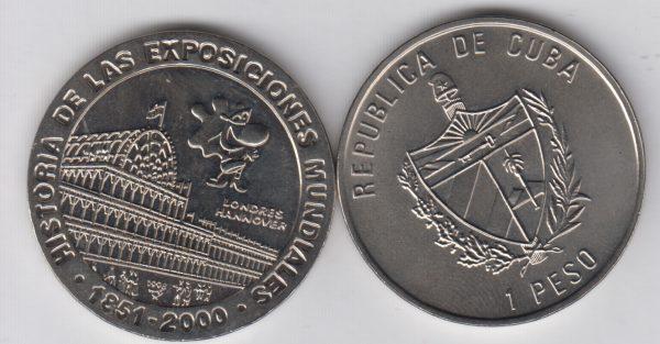 CUBA 1 Peso 2000 Expo London