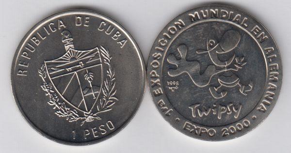 CUBA 1 Peso 1998 Twipsy