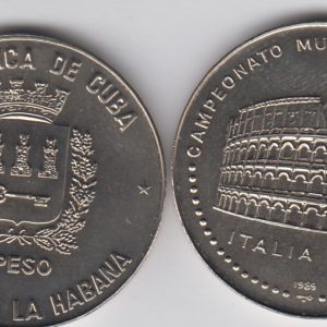 CUBA 1 Peso 1989 KM248