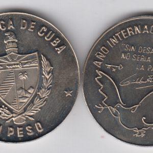 CUBA 1 Peso 1986 KM156