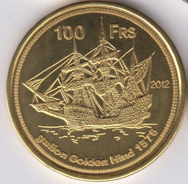 EUROPA 100 Francs 2012, Albatros, unusual coinage