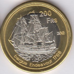 EUROPA 200 Francs 2012, Penguin, unusual coinage