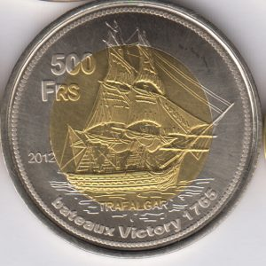 EUROPA 500 Francs 2012, Whale, unusual coinage
