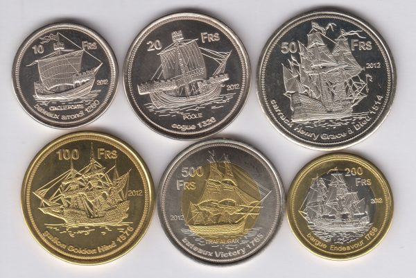 EUROPA Set 9pcs 2012, unusual coinage