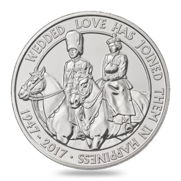 GREAT BRITAIN £5 2017  Platinium wedding Anniversary