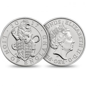 GREAT BRITAIN £5 2017  English Lion