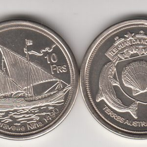 JUAN DE NOVA 10 Francs 2013, Squid, unusual coinage