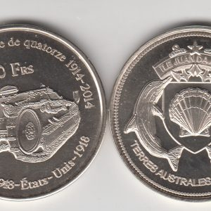 JUAN DE NOVA 50 Francs 2014 Tank, unusual coinage