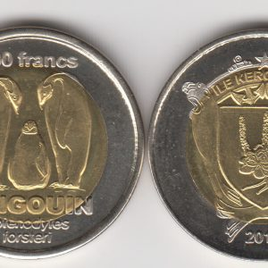 KERGUELEN 200 Francs 2011, Penguin, unusual coinage