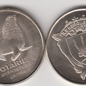 KERGUELEN 20 Francs 2011, Otter, unusual coinage