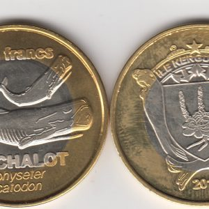 KERGUELEN 500 Francs 2011, Whale, unusual coinage