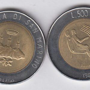 SAN MARINO 500 Lire 1991 KM269