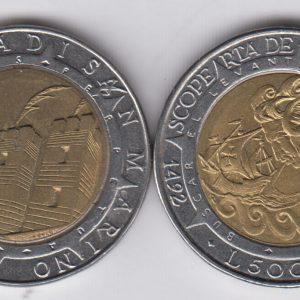 SAN MARINO 500 Lire 1992 KM286