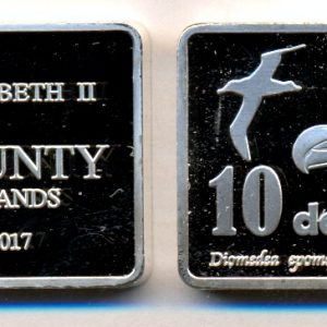 BOUNTY ISLAND $10 2017, unusual coinage