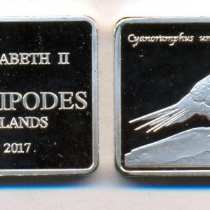 ANTIPODES ISLANDS $10 2017, unusual coinage