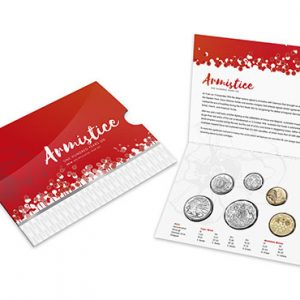 AUSTRALIA BU Set 2018 6pcs, contains the $1 2018 Armistice, only available in this set