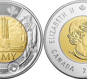 CANADA $2 2017 Vimy, bimetal