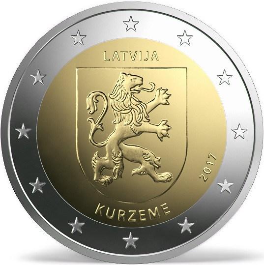 LATVIA 2 EUR 2017 bimetal, Kurzeme