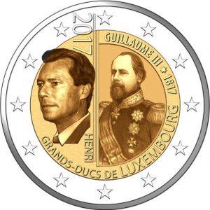 Luxembourg 2 EUR 2017 bimetal, Guillaume III