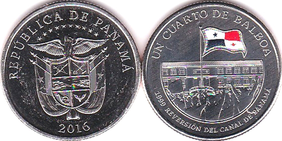 PANAMA ¼ de Balboa 2016 colored, Nationalization of the Panama Canal