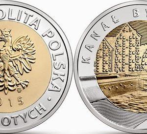 POLAND 5 Zlotych 2015 – Bydgoski Canal, bimetal