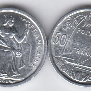 FRENCH POLYNESIA 50 Centimes 1965 KM1