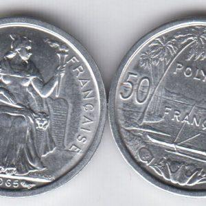 FRENCH POLYNESIA 50 Centimes 1965 KM1
