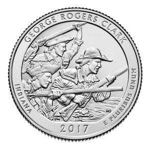 USA $¼ 2017D George Rogers Clark