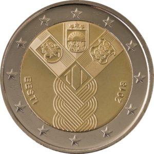 ESTONIA 2 EUR 2018 Baltic States Independance