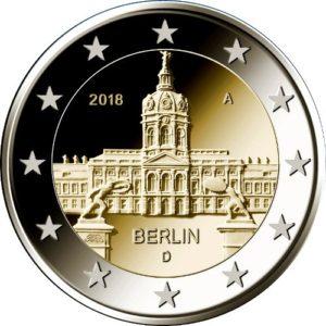 GERMANY 2 EUR 2018 Charlottenburg Castle, mint to choose
