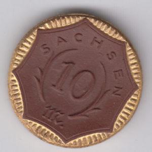 GERMANY 10 Mark 1921 Saxony, ceramic