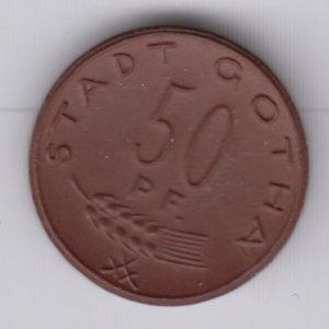 GERMANY 50 Pfennig 1921 Gotha, ceramic