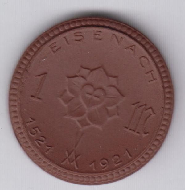 GERMANY 1 Mark 1921 Eisenach, ceramic