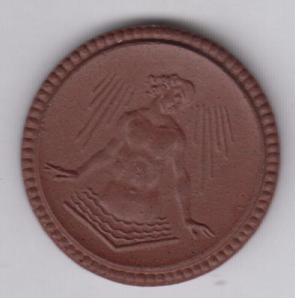 GERMANY 2 Mark 1921 Weixdorf-Lausa, ceramic